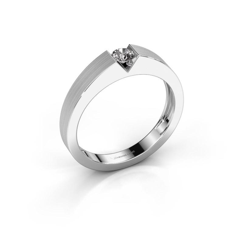 Verlovingsring Lizzy 1 585 witgoud lab-grown diamant 0.20 crt