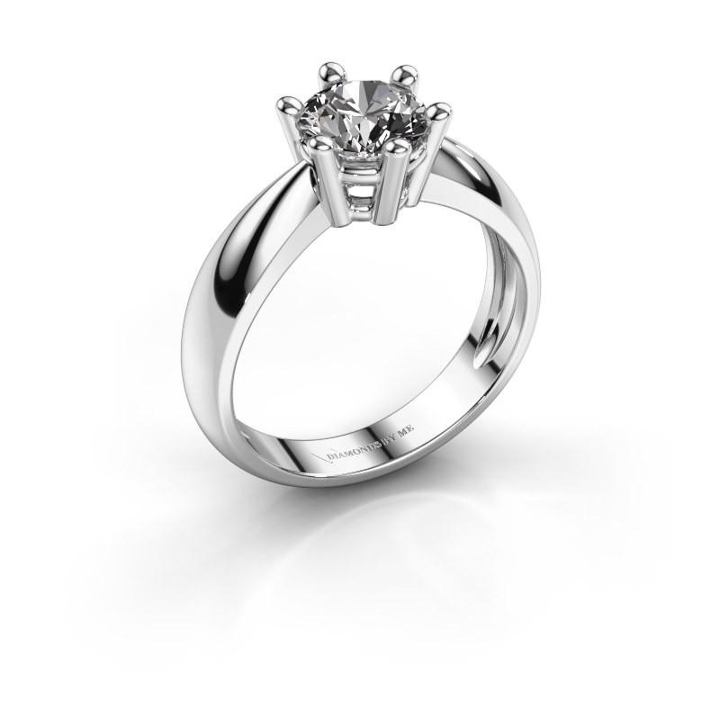Verlovingsring Fay 585 witgoud diamant 1.00 crt