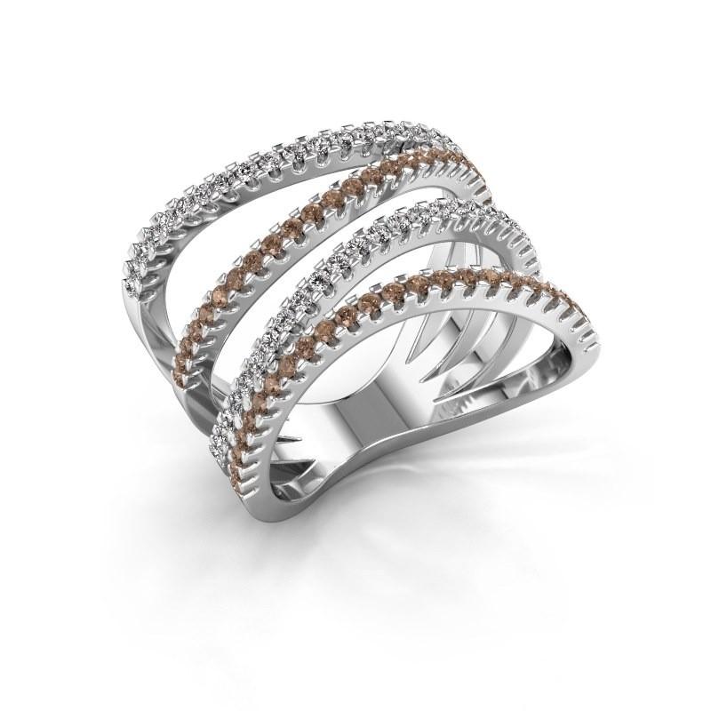 Bague Mitzi 585 or blanc diamant brun 0.735 crt