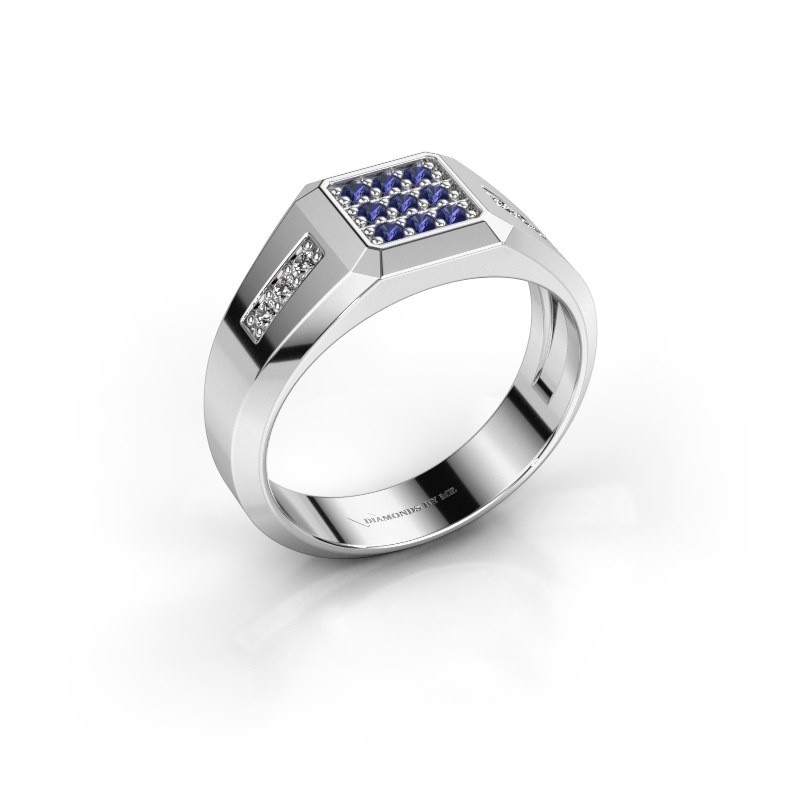 Pinky ring Bas 925 silver sapphire 1.7 mm