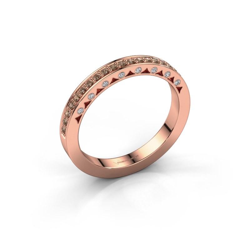Ring Yasmine 585 rose gold brown diamond 0.245 crt
