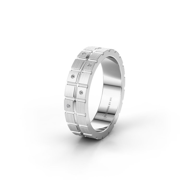 Vriendschapsring WH2011L 375 witgoud diamant ±5x1.8 mm