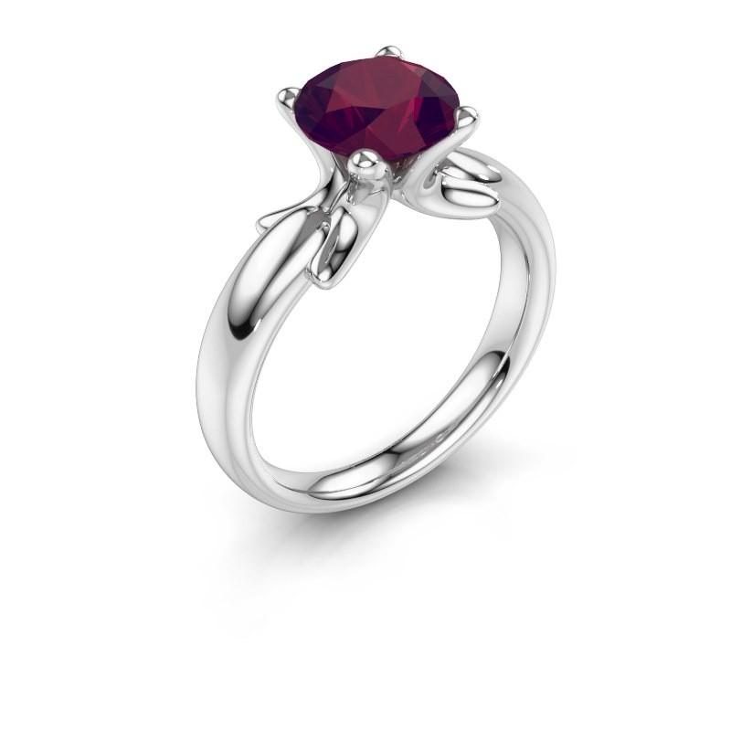 Ring Jodie 925 zilver rhodoliet 8 mm