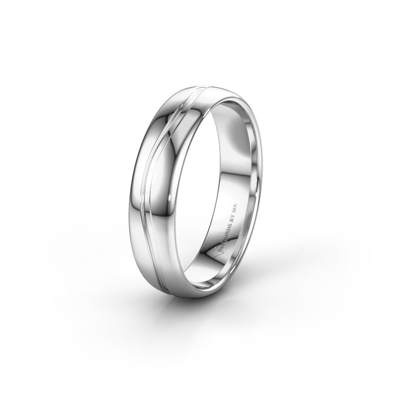 Trouwring WH0905M35X 925 zilver ±5x1.5 mm