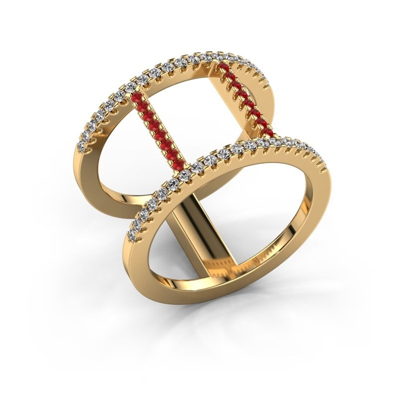 Ring Amee 375 gold ruby 1.2 mm