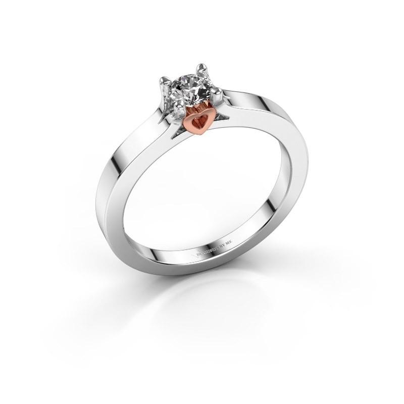 Verlobungsringe Weiãÿgold Diamant   Einzigartiger Weissgold Verlobungsring Rund Diamant Eliz