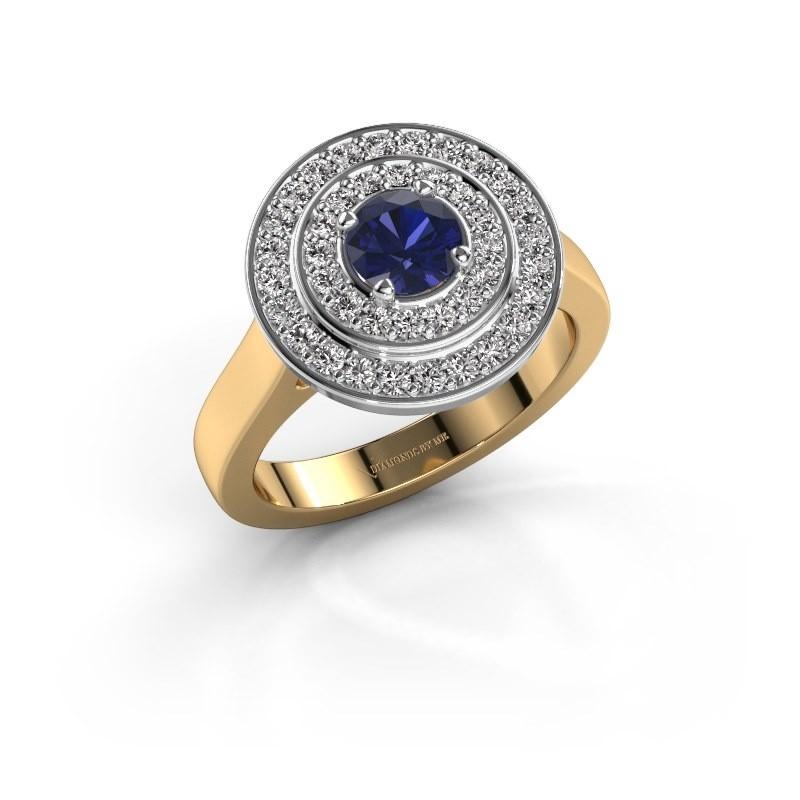 Ring Alecia 1 585 goud saffier 5 mm