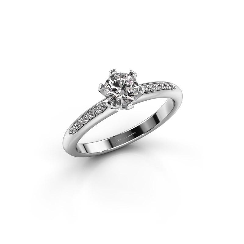 Verlovingsring Tiffy 2 950 platina diamant 0.50 crt