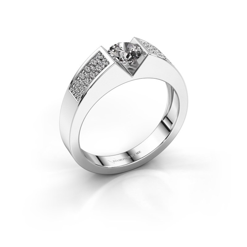 Engagement ring Lizzy 3 585 white gold zirconia 5 mm