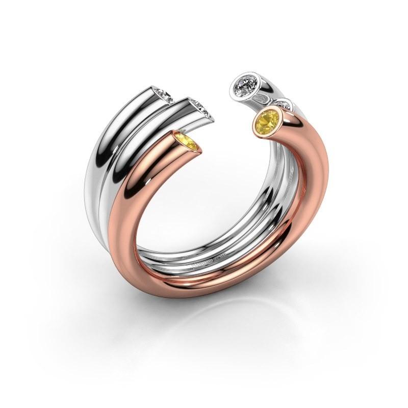 Ring Noelle 585 Roségold Gelb Saphir 2.4 mm