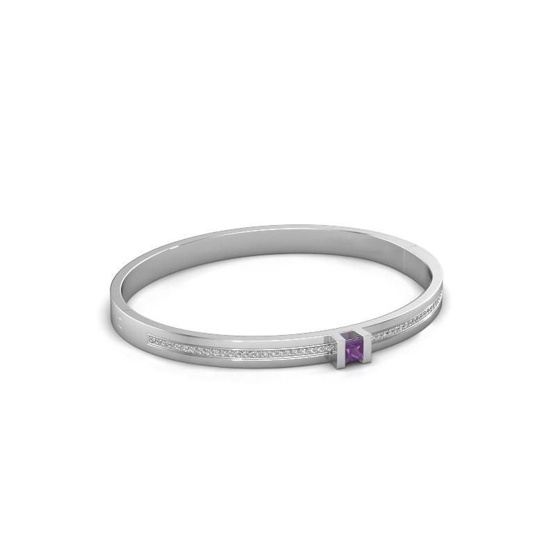Bracelet Desire 585 white gold amethyst 4 mm
