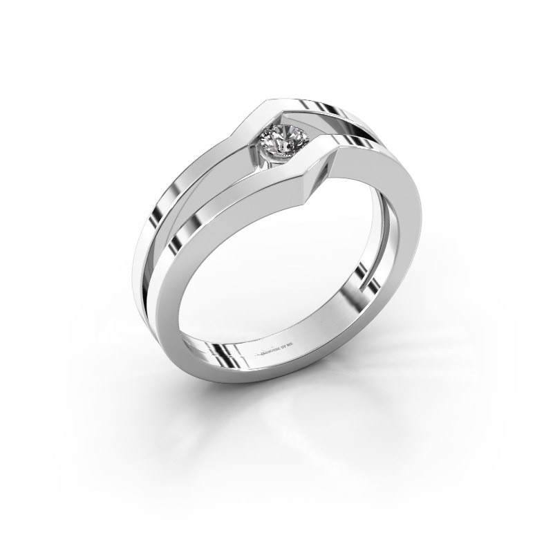 Ring Elize 585 witgoud zirkonia 3.4 mm