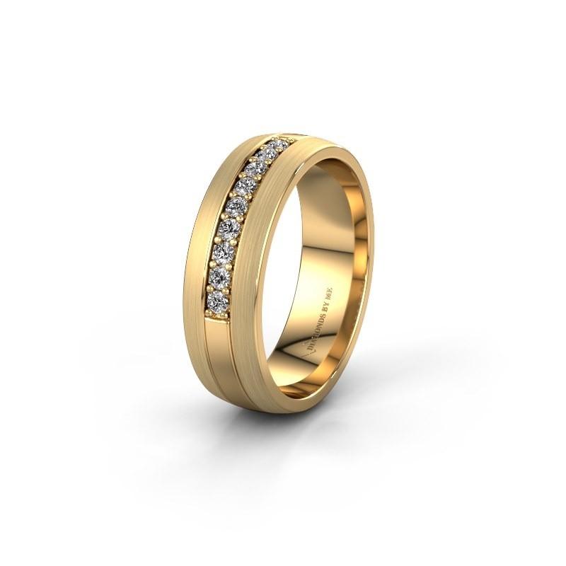 Trouwring WH0413L26APM 585 goud lab-grown diamant ±6x1.7 mm