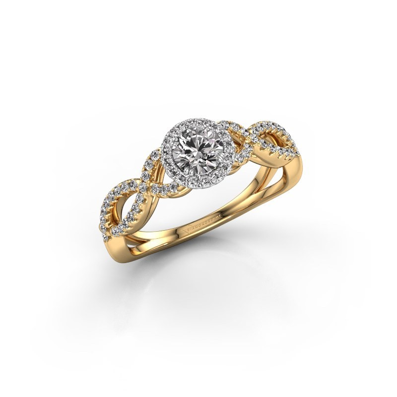 Engagement ring Dionne rnd 585 gold diamond 0.61 crt