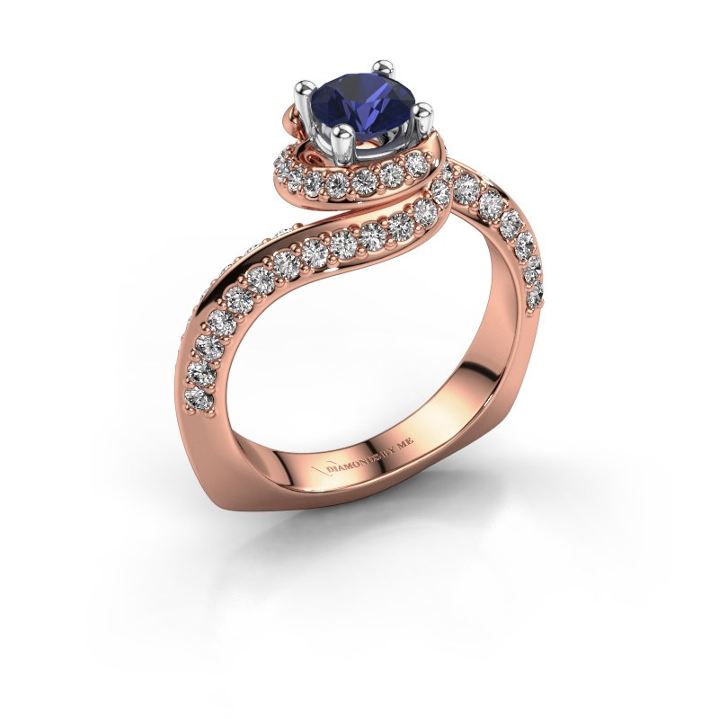 Engagement ring Sienna 585 rose gold sapphire 5 mm