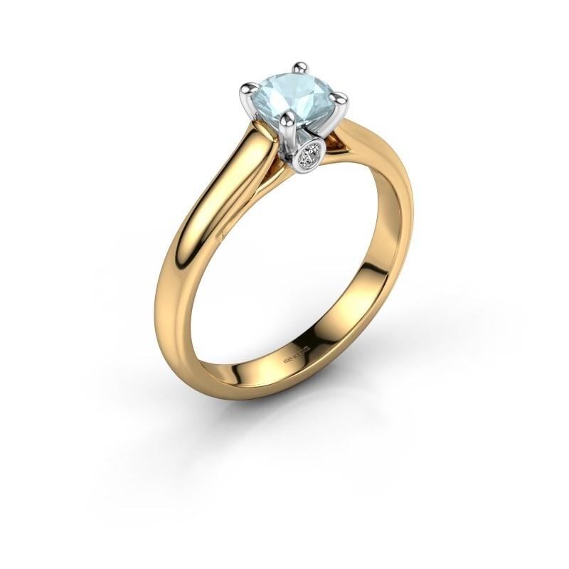 Verlovingsring Valorie 1 585 goud aquamarijn 5 mm