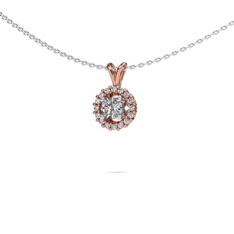 Pendant Tennille 585 rose gold lab-grown diamond 0.37 crt