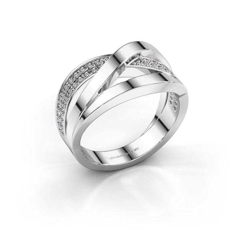 Ring Amira 585 witgoud zirkonia 1.2 mm