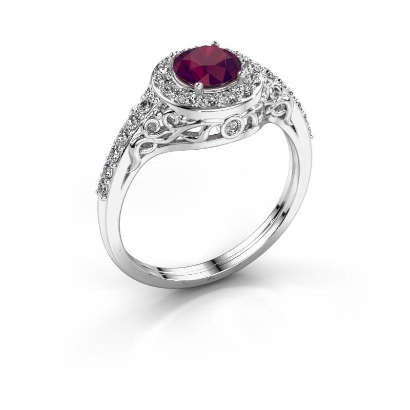 Ring Yurani 950 platina rhodoliet 6 mm