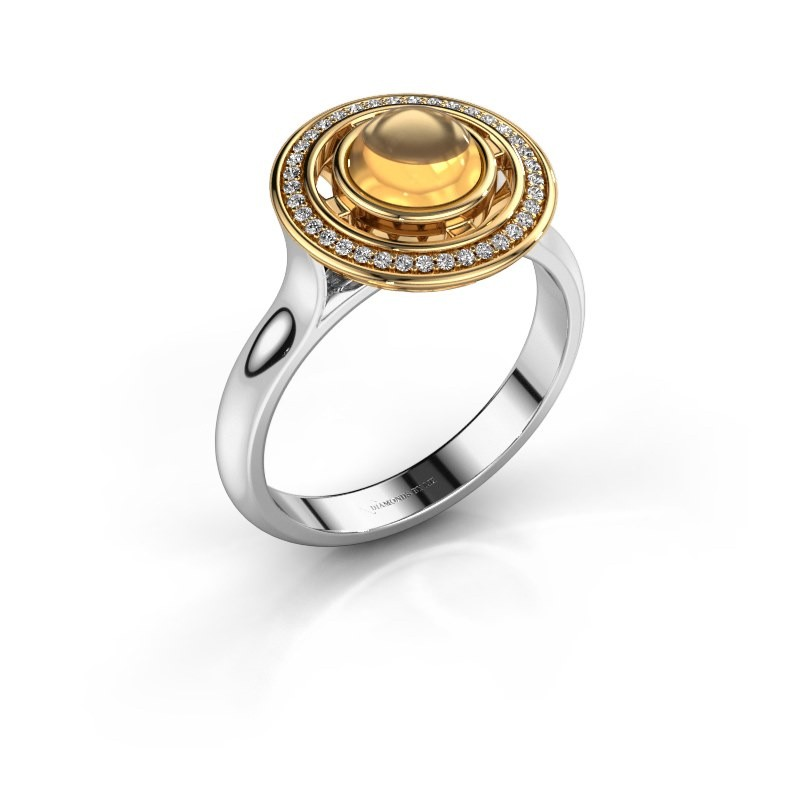 Ring Salima 585 witgoud citrien 6 mm