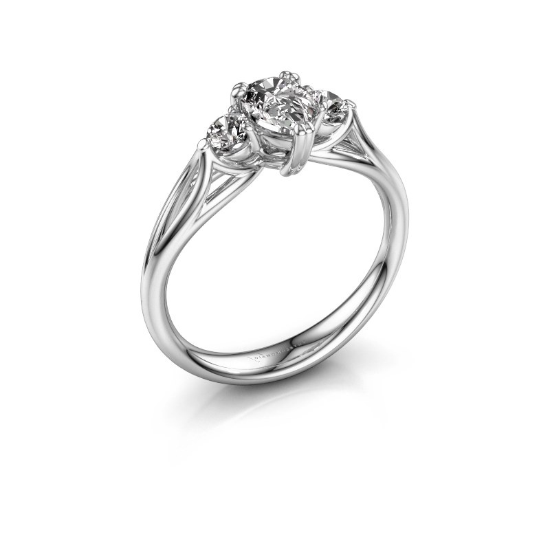 Verlobungsring Amie per 585 Weißgold Diamant 0.85 crt