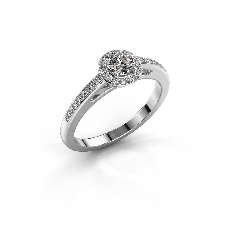 Engagement ring Aaf 950 platinum diamond 0.46 crt