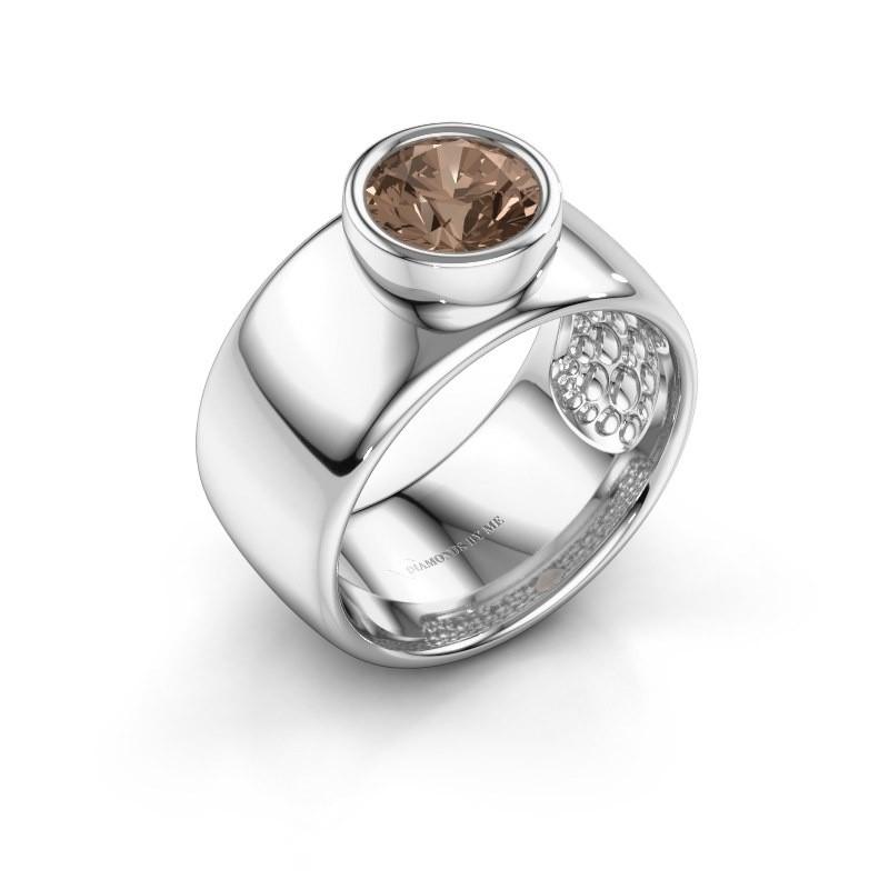 Ring Klarinda 925 Silber Braun Diamant 1.30 crt
