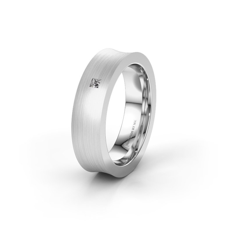 Wedding ring WH2238L2 585 white gold zirconia ±6x2.2 mm