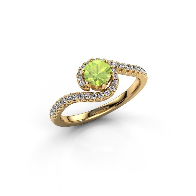 Verlovingsring Elli 375 goud peridoot 5 mm