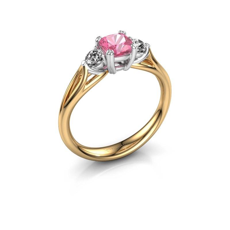 Verlobungsring Amie cus 585 Gold Pink Saphir 5 mm