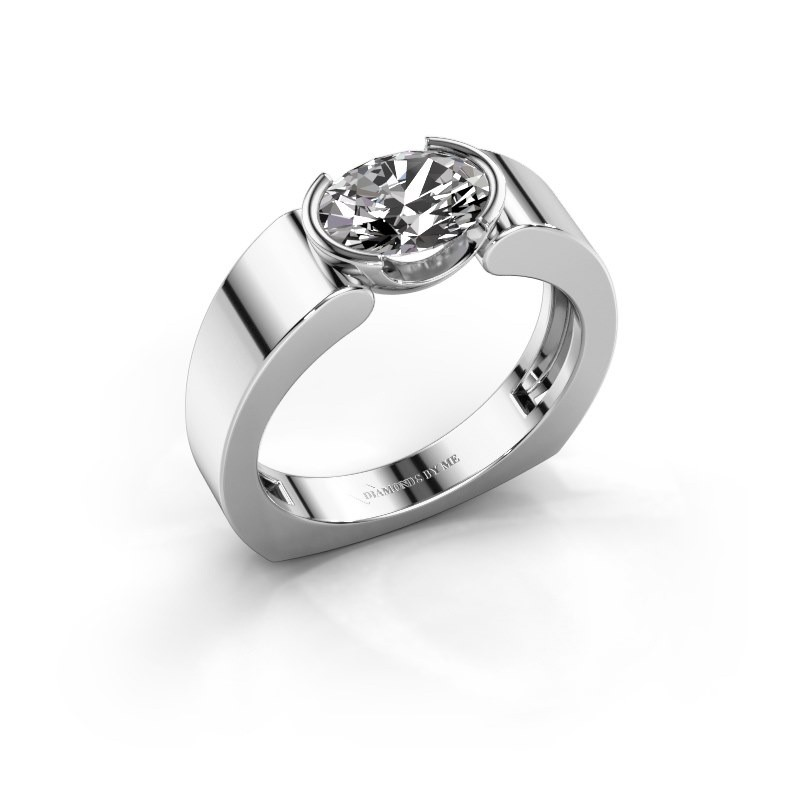 Ring Tonya 950 platina zirkonia 8x6 mm