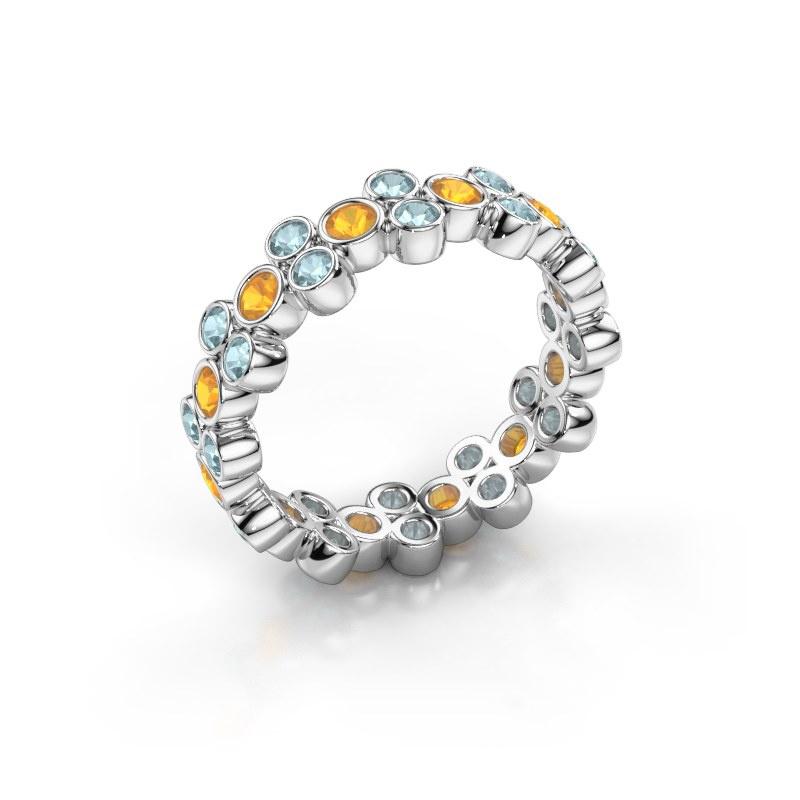 Ring Victoria 925 Silber Citrin 2.4 mm