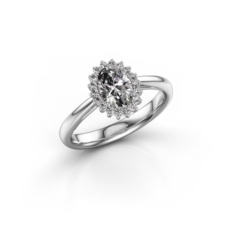 Engagement ring Tilly ovl 1 585 white gold lab-grown diamond 0.80 crt