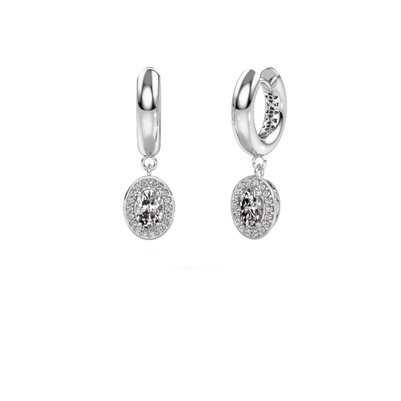 Oorhangers Annett 375 witgoud diamant 1.241 crt