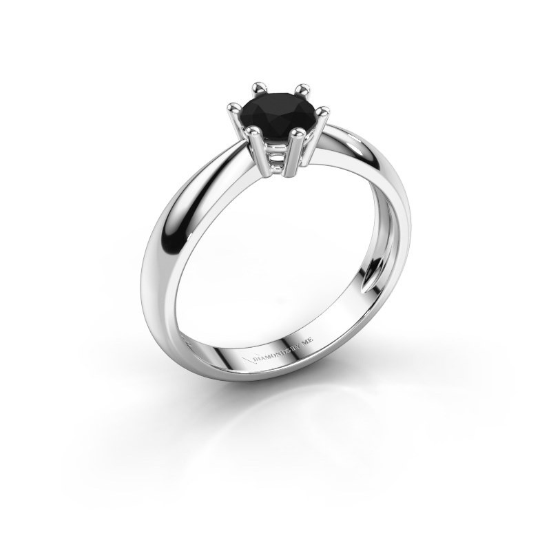 Verlovingsring Fay 585 witgoud zwarte diamant 0.60 crt