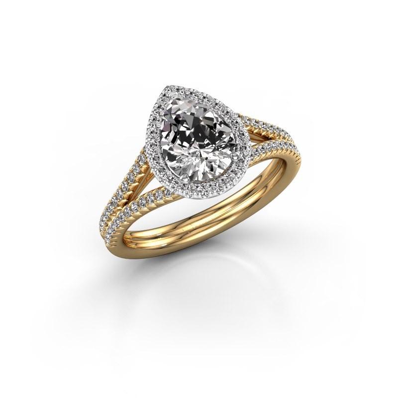 Verlobungsring Verla pear 2 585 Gold Lab-grown Diamant 1.337 crt