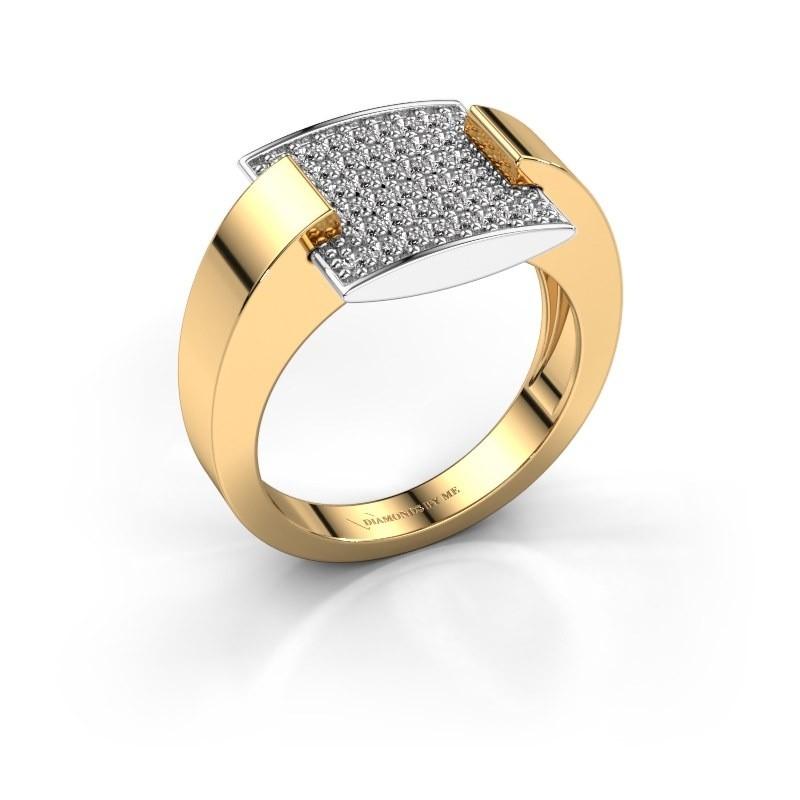 Ring Silke 585 goud lab-grown diamant 0.30 crt