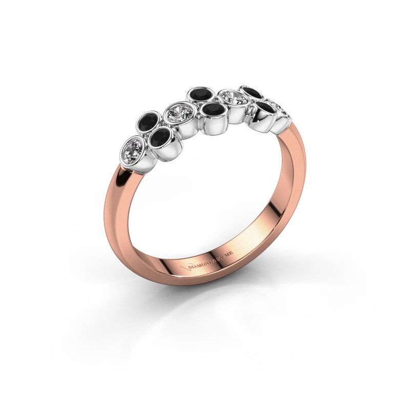 Bague Kayleigh 585 or rose diamant synthétique 0.436 crt
