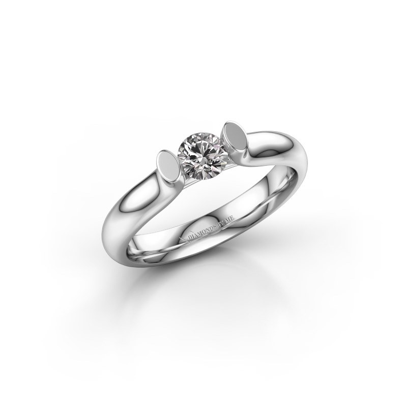 Verlovingsring Ashlyn 1 585 witgoud diamant 0.30 crt