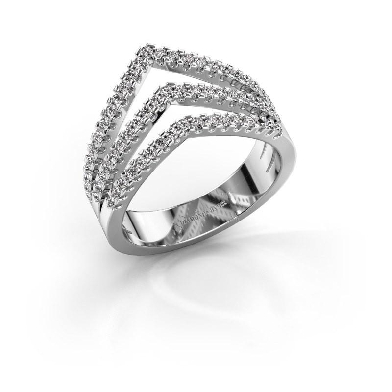 Ring Kendra 950 platinum lab-grown diamond 0.488 crt