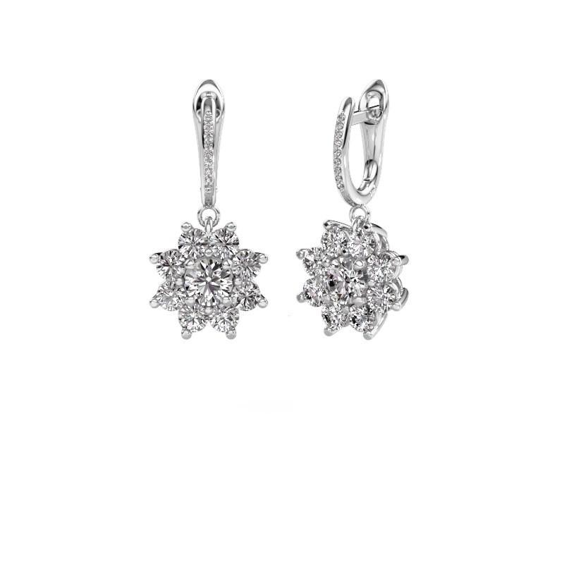 Oorhangers Camille 2 950 platina diamant 2.965 crt