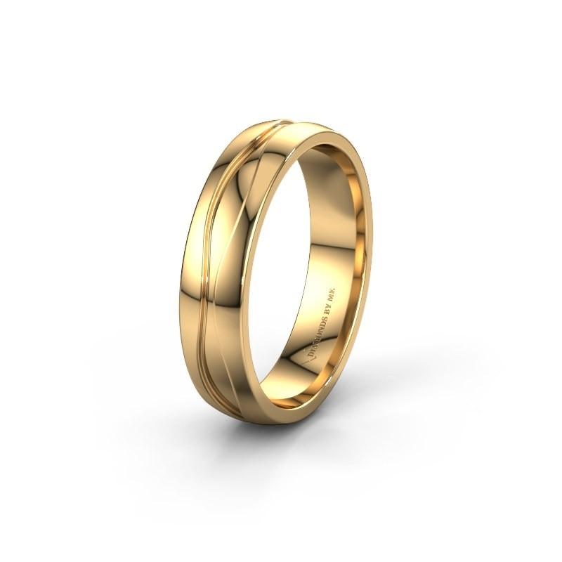 Trouwring WH0172M25A 375 goud ±5x1.7 mm