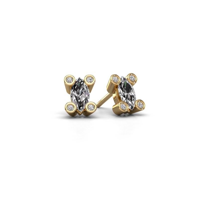 Oorstekers Cornelia Marquis 375 goud lab-grown diamant 0.35 crt
