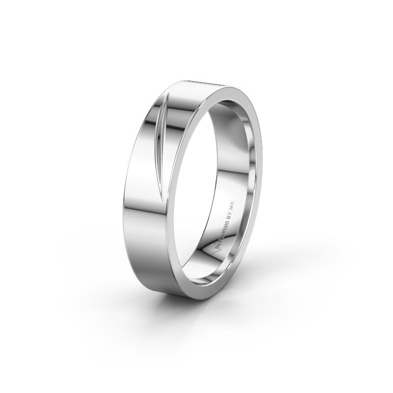 Wedding ring WH0170M15A 585 white gold ±5x1.7 mm