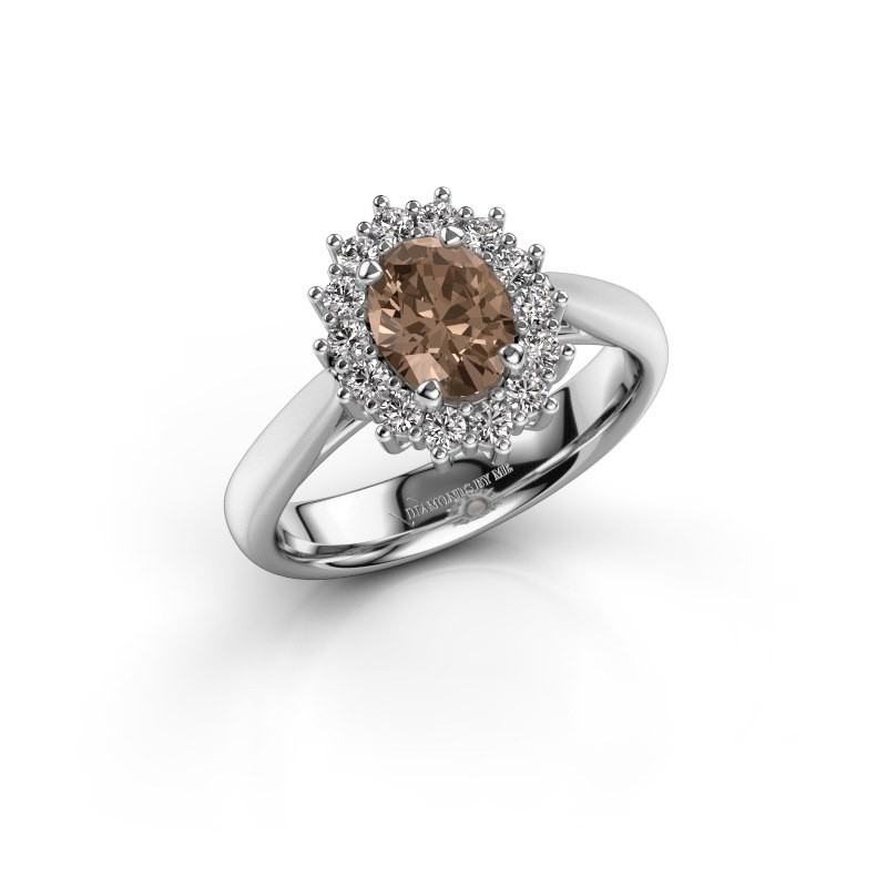 Verlobungsring Margien 1 925 Silber Braun Diamant 0.80 crt