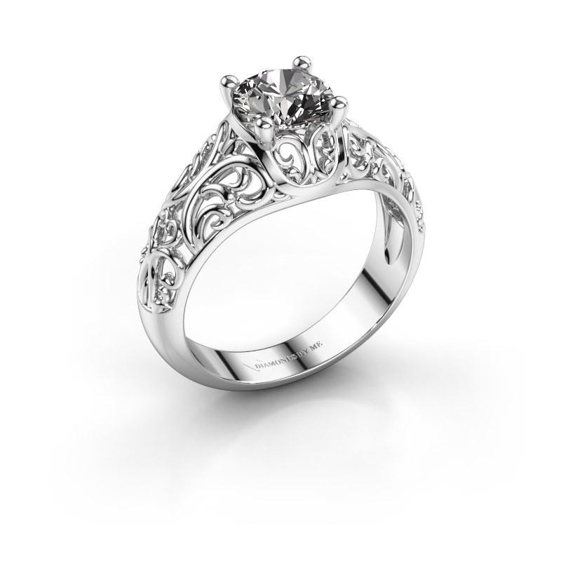 Ring Mirte 925 zilver zirkonia 6.5 mm