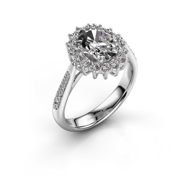 Verlovingsring Margien 2 585 witgoud diamant 1.209 crt