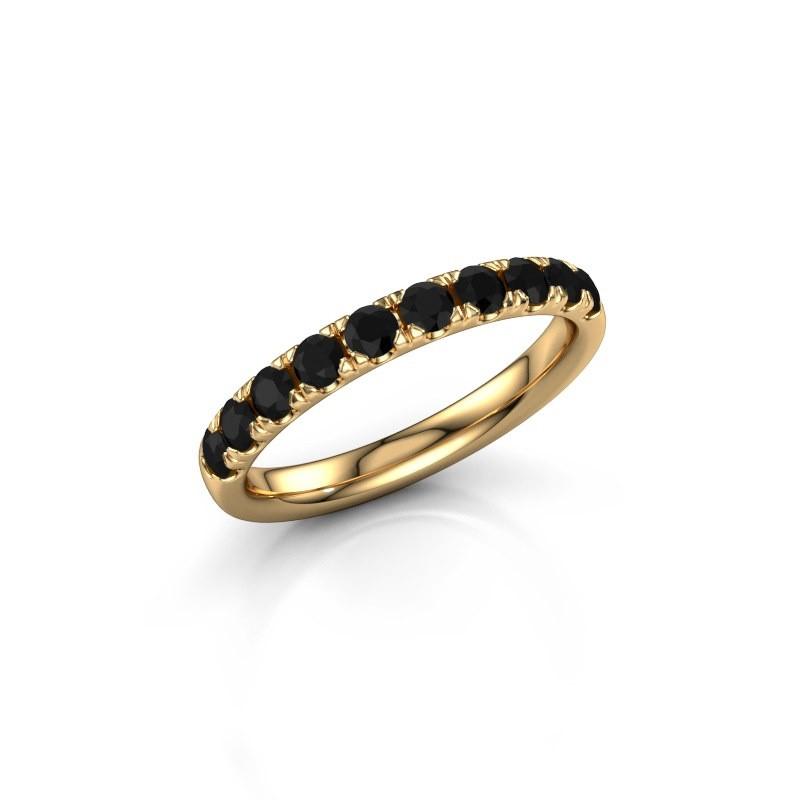 Aanschuifring Jackie Half 375 goud zwarte diamant 0.66 crt