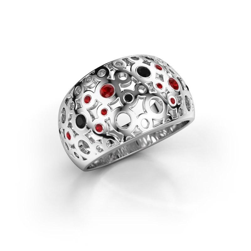 Ring Jaylinn 2 925 zilver robijn 2.2 mm