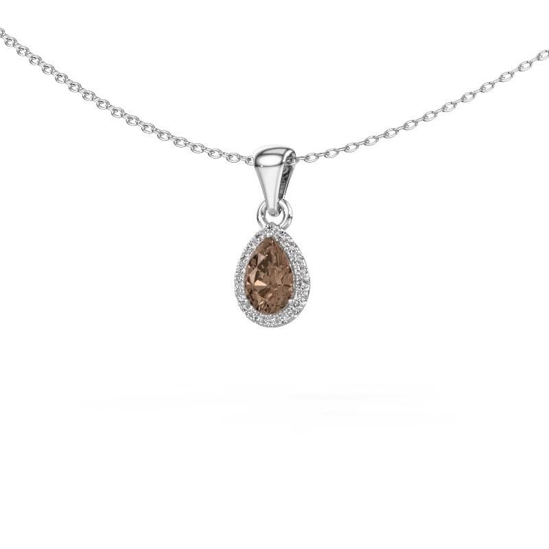 Halskette Seline per 950 Platin Braun Diamant 0.45 crt